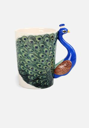 Temerity Jones Peacock Mug Ceramic