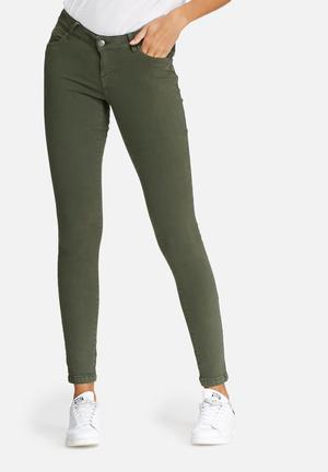 Vero Moda Five Slim Jeans Green