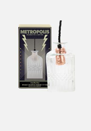 Temerity Jones Whiskey Decanter Pendant Light Lighting Brass & Glass