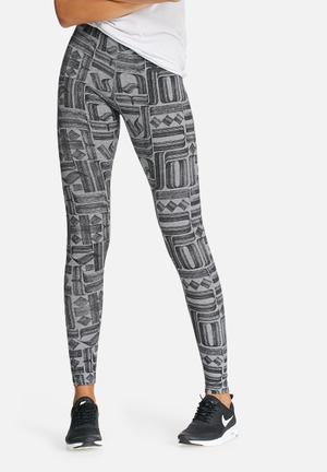 Nike Leg-a-see Leggings Bottoms Grey & Black