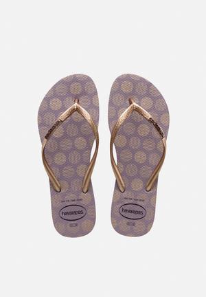 Havaianas Women's Slim Retro Sandals & Flip Flops Lavender & Gold