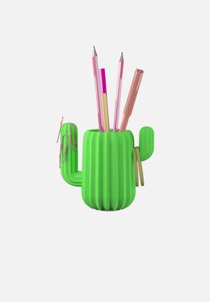 Mustard  Cactus Desktop Organiser Gifting & Stationery