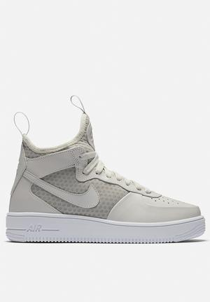 Nike AF1 Ultraforce Mid Sneakers Light Bone / White