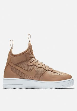 Nike AF1 Ultraforce Mid Sneakers Vachetta Tan / White