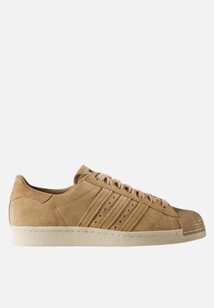 Adidas Originals Superstar 80's Sneakers Linen Khaki  / Gold Met