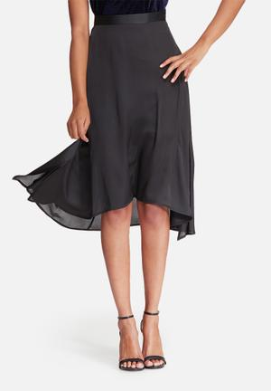 Dailyfriday High Low Skirt With Side Slits Black