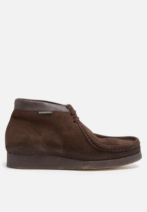 Grasshoppers Moccasin Mid Boots Dark Brown