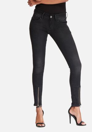G-Star RAW Lynn Zip Grip Skinny Jeans Black