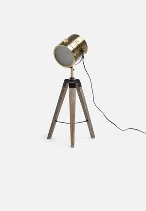 Sixth Floor KI Tripod Table Lamp Lighting Metal & Wood