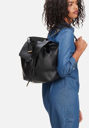 Glamorous Flap Over Backpack Bags & Purses Black