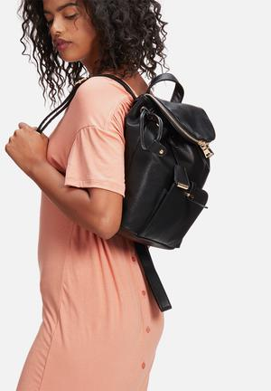 Glamorous Zip Backpack Bags & Purses Black