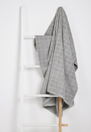 Sixth Floor Cube Bath Sheet Towels 100% Cotton, 480gsm