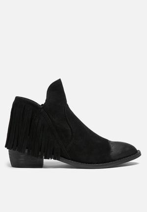 Glamorous Harper Fringe Boot  Black