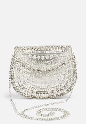 Glamorous Metal Bag Silver