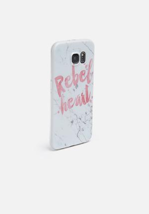 Hey Casey Rebel Heart - IPhone & Samsung Cover White & Pink
