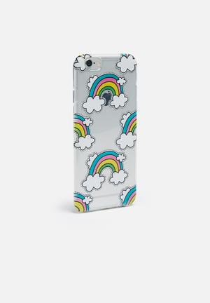 Hey Casey Rainbows Are Rad Man - IPhone & Samsung Cover Clear, Blue, PInk & Yellow