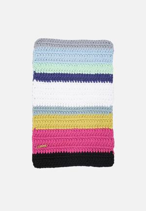 Sew Hooked Multi Stripe Bathmat Aghetti T-shirt Yarn