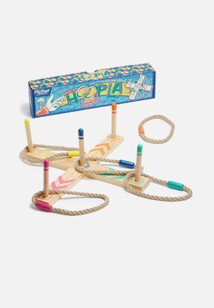 Wild & Wolf Hoopla Game Wood & Rope