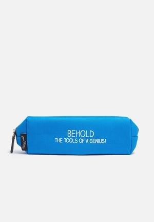 Wild & Wolf Tools Of A Genius Pencil Case Gifting & Stationery Blue