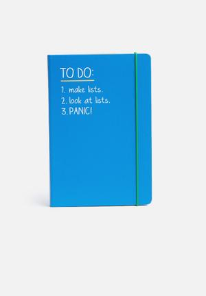 Wild & Wolf To Do List A5 Notebook Gifting & Stationery Blue, White & Green