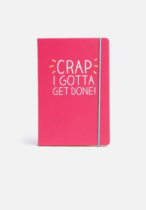 Wild & Wolf Get Done A5 Notebook Gifting & Stationery Pink, Yellow & Turquoise
