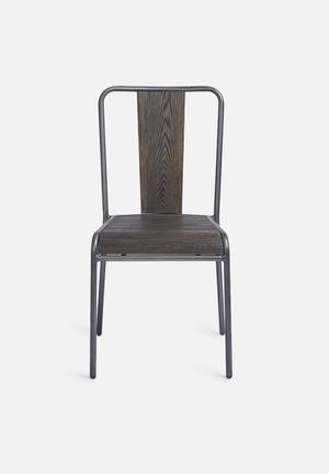 Sixth Floor Factory Dining Chair Grey Brush