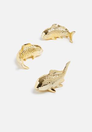 Temerity Jones Ceramic Fish Wall Ornaments Accessories Ceramic