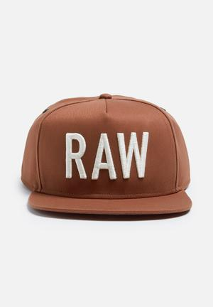 G-Star RAW Obaruh Snapback Cap Headwear Brown