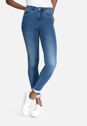 ONLY Royal High Waisted Skinny Jeans Blue