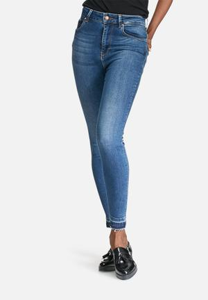 ONLY Piper High Ankle Jeans Blue