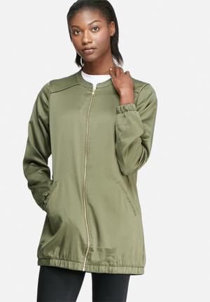 VILA Centri Long Bomber Jackets Green