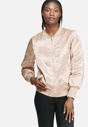 VILA Concrete Sateen Jacket Rose Gold