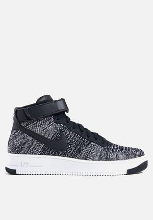 "Nike AF1 Ultra Flyknit Sneakers Black / Black / White ""Oreo"""