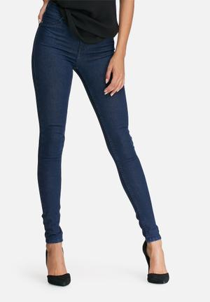 Dailyfriday High Waisted Super Stretch Jeggings Jeans Blue