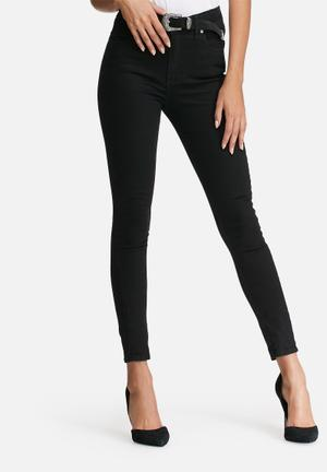Dailyfriday High Waisted Skinny Jeans Black