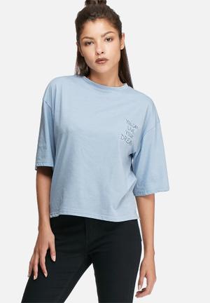 Daisy Street Relaxed Boxy T-shirt Blue