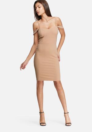 Dailyfriday Crepe Scuba Bodycon Dress Occasion Nude