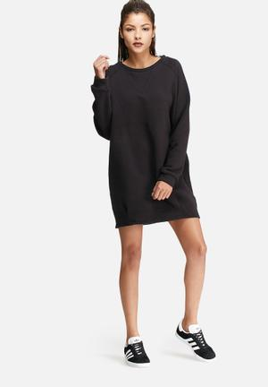 Glamorous Relaxed Sweat Dress Casual Black