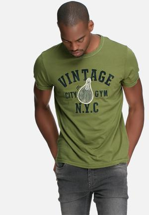 Jack & Jones Vintage Alton Slim Fit Tee T-Shirts & Vests Green