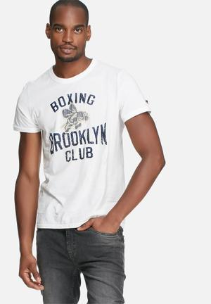 Jack & Jones Vintage Alton Slim Fit Tee T-Shirts & Vests White
