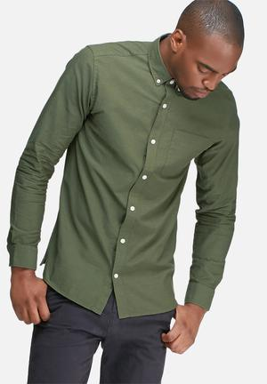 Jack & Jones Premium David Slim Shirt Olive Green
