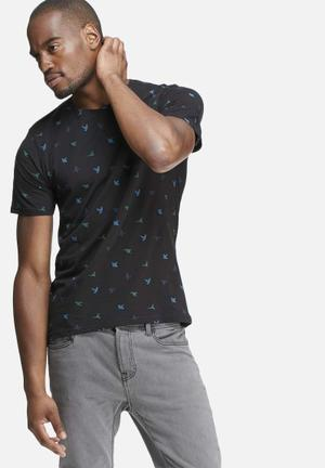 Only & Sons Dave Fitted Tee T-Shirts & Vests Black