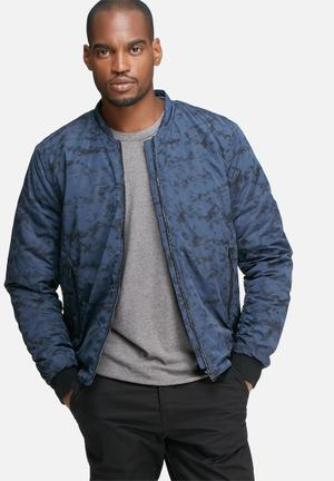 Selected Homme Filson Bomber Jacket Blue & Black