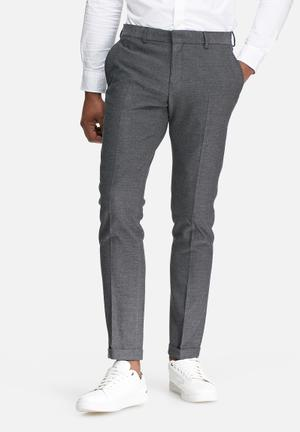 Selected Homme Done Tax Trousers Pants Grey