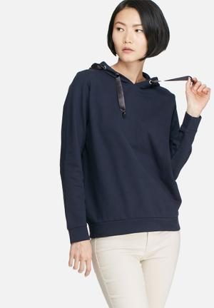 Jacqueline De Yong Carly Sweat Hoodies & Jackets Navy