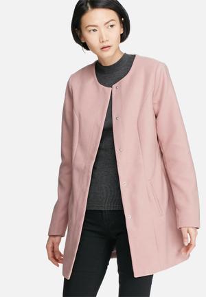 Jacqueline De Yong New Brighton Autumn Coat Pink