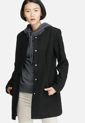 Jacqueline De Yong New Brighton Autumn Coat Black