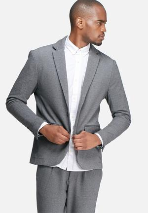 Jack & Jones Premium Simon Slim Blazer Jackets & Coats Grey Melange