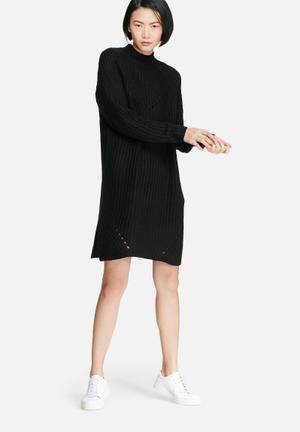 VILA Semina Knit Dress Casual Black