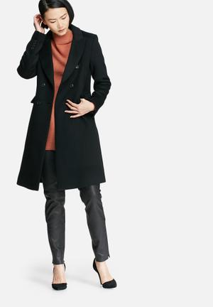Selected Femme Zanna Wool Coat Black